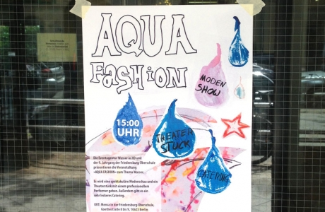 "I´LL WORK ""Aqua Fashion"" in der Friedensburg Oberschule"