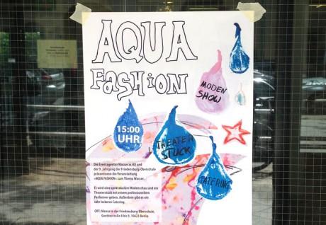 Projektwoche Oberschule Friedensburg Aqua-Fashion-Plakat